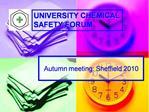 Autumn meeting: Sheffield 2010