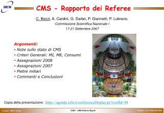 CMS - Rapporto dei Referee