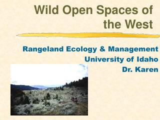 Wild Open Spaces of the West