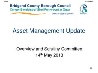 Asset Management Update