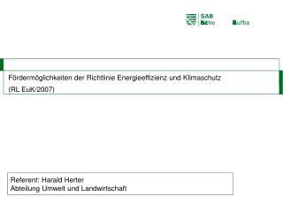 F rderm glichkeiten der Richtlinie Energieeffizienz und Klimaschutz  RL EuK