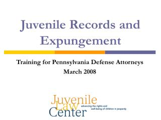 juvenile records and expungement