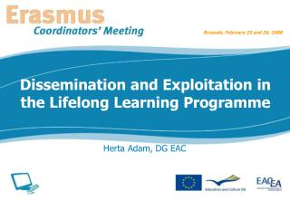 Dissemination and Exploitation in the Lifelong Learning Programme