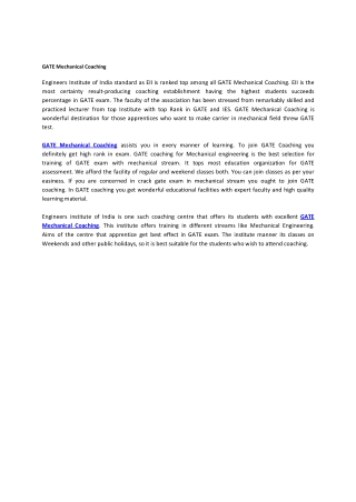 ATE Mechanical Coaching