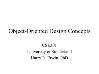 Object-Oriented Design Concepts
