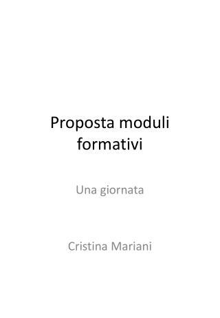 Proposta moduli formativi