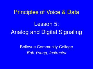Principles of Voice  Data