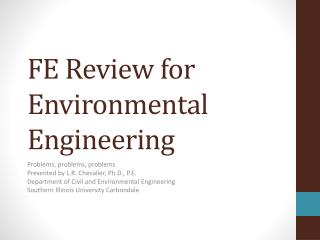FE Review for Environmental Engineering