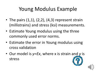 Young Modulus Example