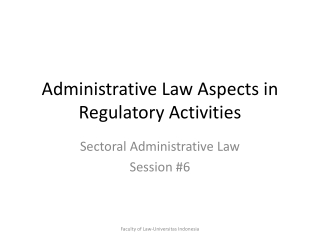 administrative law and government regulation