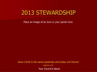 2013 STEWARDSHIP