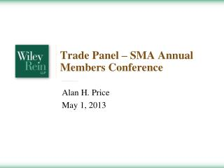 Trade Panel   SMA Annual Members Conference