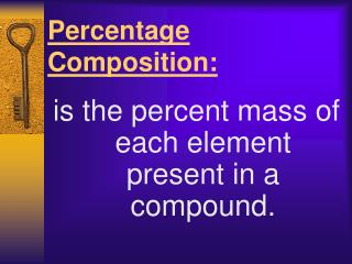 Percentage Composition: