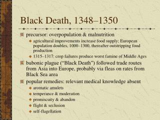 Black Death, 1348 1350