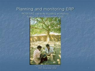 Planning and monitoring ERP acra