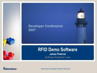 RFID Demo Software James Peternel Software Engineer Lead