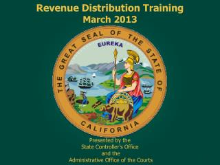Revenue Distribution Training March 2013