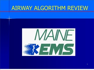 airway algorithm review