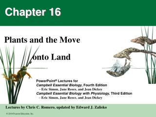 Plants and the Move               onto Land