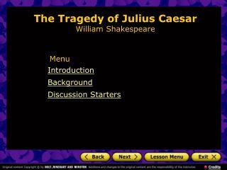 The Tragedy of Julius Caesar  William Shakespeare