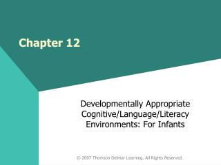 Developmentally Appropriate Cognitive