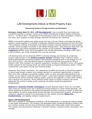 LJM Developments Debuts at World Property Expo