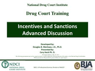Incentives and Sanctions Advanced Discussion