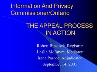 information and privacy commissioner