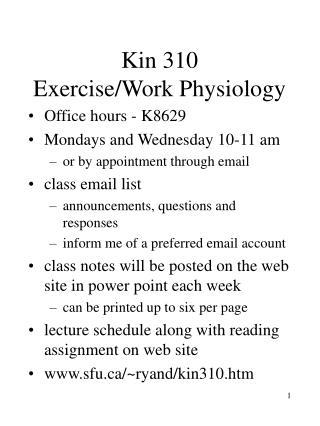 Kin 310 Exercise
