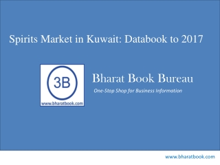 Spirits Market in Kuwait: Databook to 2017