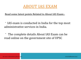 About IAS exam