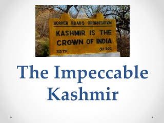 The Impeccable Kashmir