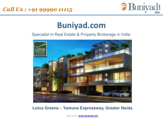 Lotus Greens Launches a  new residential Project Lotus Greens -  Yamuna Expressway.