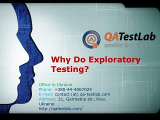 why do exploratory testing?