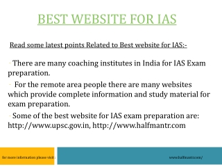 Best website for IAS