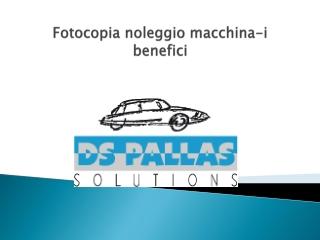 Fotocopia noleggio macchina-i benefici