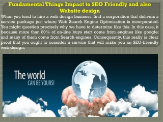 Fundamental Things Impact to SEO Friendly and also Website d
