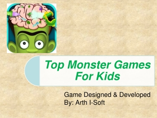 Top Monster Games For Kids