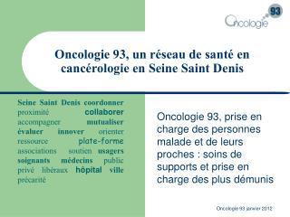 Oncologie 93, un r seau de sant  en canc rologie en Seine Saint Denis