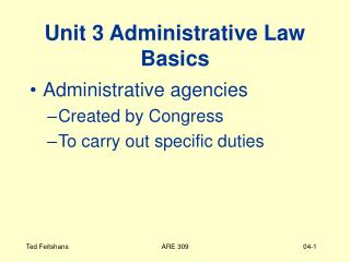 unit 3 administrative law basics