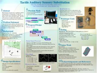 Tactile Auditory Sensory Substitution