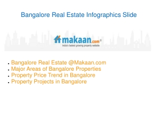Real Estate Bangalore Property Infographics Slide