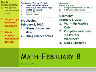Math-February 8