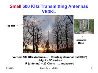 Small 500 KHz Transmitting Antennas VE3KL
