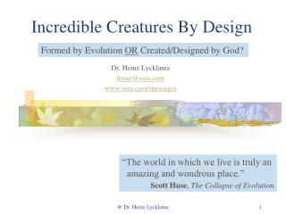 Incredible Creatures By Design