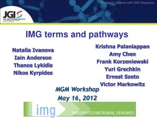 IMG terms and pathways