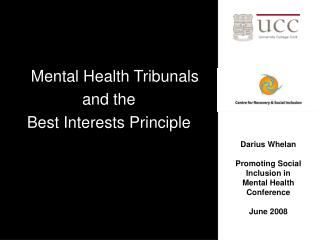 mental health tribunals  and the  best interests principle