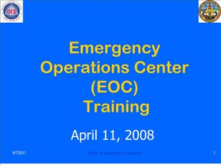 emergency operations center eoc  training