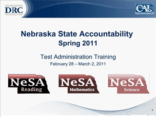nebraska state accountability  spring 2011