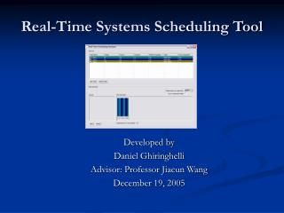 Real-Time Systems Scheduling Tool